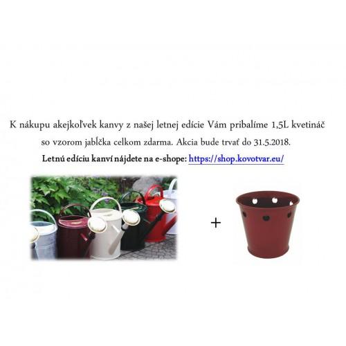 Závesný kvetináč 1L, Zn + Farba RAL 6027